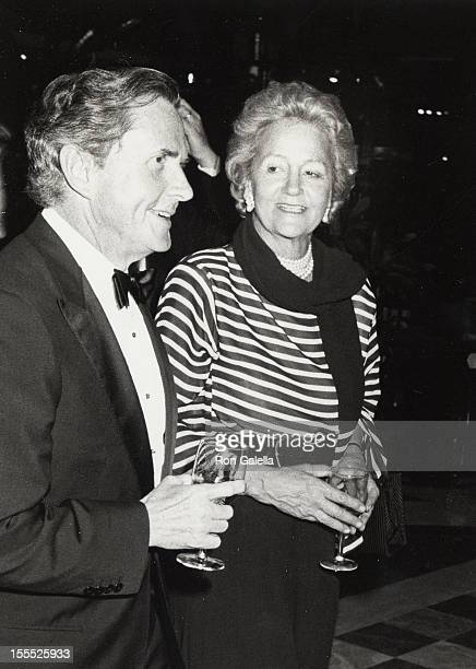 Businessman James Robinson and publisher Katharine Graham attend The Wall Street JournalThe First 100 Years Gala on June 22 1989 at the World...
