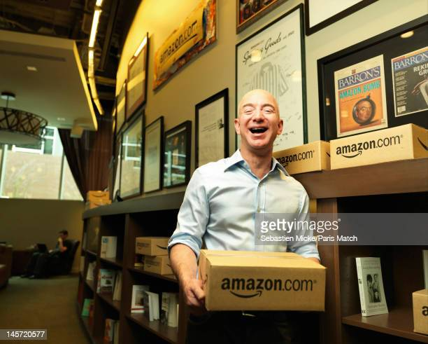 Businessman Jeff Bezos photographed at Amazon headquarters for Paris Match on February 13 2012 in Seattle Washington