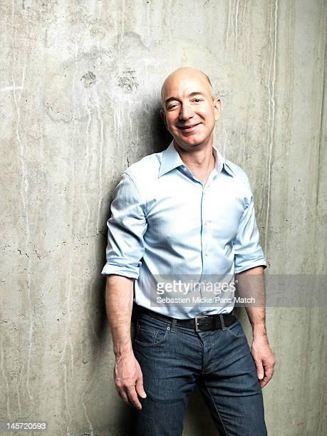 Businessman Jeff Bezos photographed at Amazon headquarters for Paris Match on February 13, 2012 in Seattle, Washington.