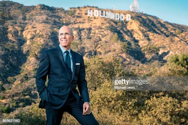 Businessman Jeffrey Katzenberg photographed for Fortune Magazine on August 26 in Los Angeles California