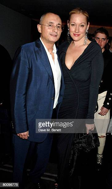 Businessman Johnny Elichaoff and entrepreneur Amy Sacco arrive at the charity event 'Not Another Burns' Night' at St Martins Hotel March 3 2008 in...
