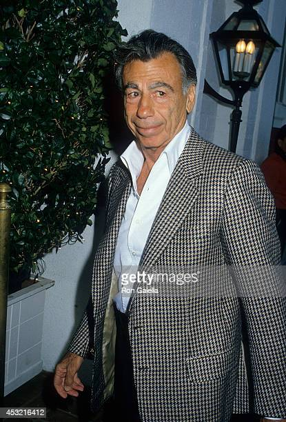 Businessman Kirk Kerkorian attends Glen A Larson Hosts a Viewing Party for the Mike Tyson vs Michael Spinks Heavyweight Championship Boxing Match on...