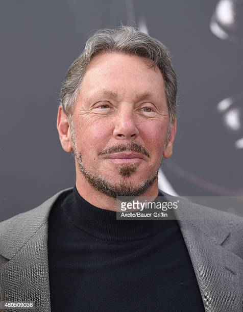 Businessman Larry Ellison arrives at the Los Angeles premiere of 'Terminator Genisys' at Dolby Theatre on June 28 2015 in Hollywood California