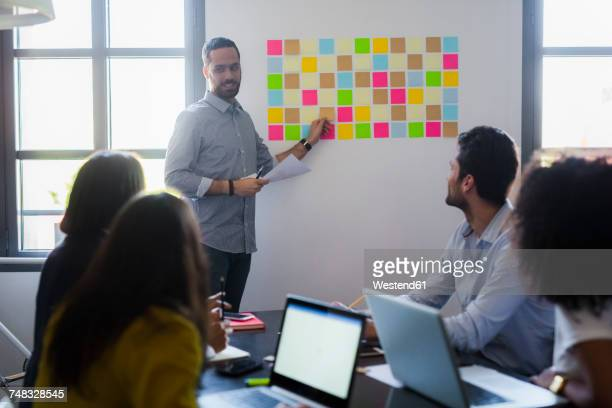 Businessman leading a presentation in office