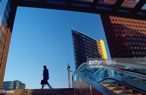 Businessman leaving railway station (Digital Enhancement)