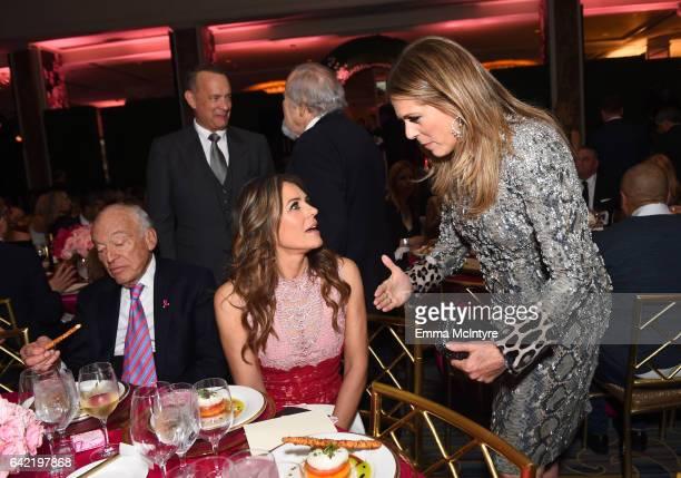 Businessman Leonard Lauder honorary cochair Tom Hanks actor Elizabeth Hurley and honorary cochair Rita Wilson attend WCRF's An Unforgettable Evening...