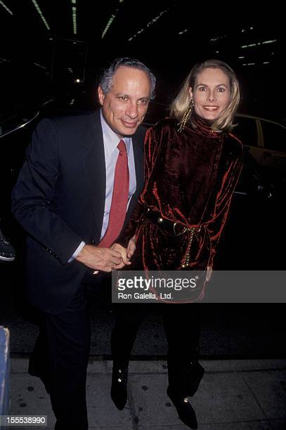 Businessman Leonard Stern and wife Allison Stern attend the opening of Sally Marr And Her Escorts on May 5 1994 at Helen Hayes Theater in New York...