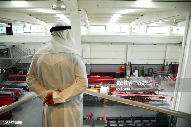 businessman look at the factory - gulf countries stock pictures, royalty-free photos & images