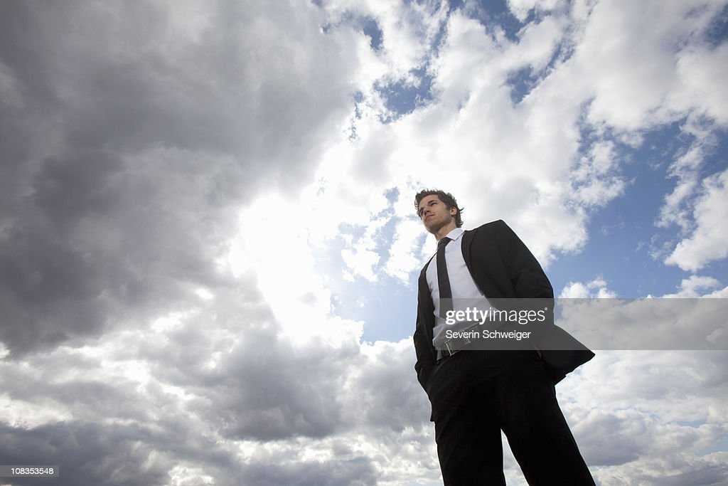 Businessman looking ahead : Stock Photo