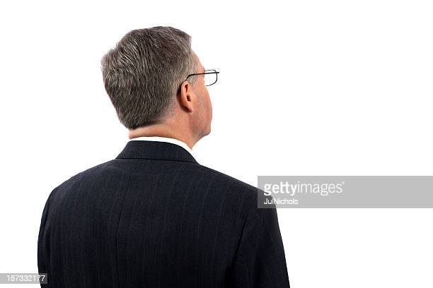 businessman looking at copy space - head stock pictures, royalty-free photos & images