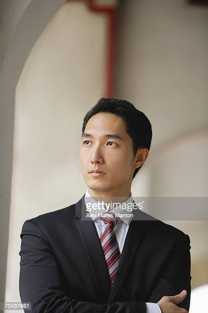 Businessman looking away, portrait