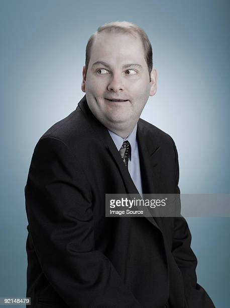 Businessman looking sideways