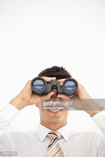 Geschäftsmann Blick durch das Fernglas