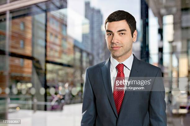 businessman looking to camera
