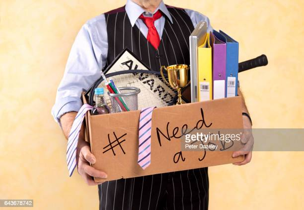businessman made redundant - downsizing unemployment stock pictures, royalty-free photos & images