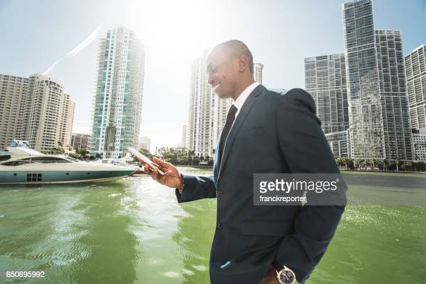 businessman make a phone call in miami