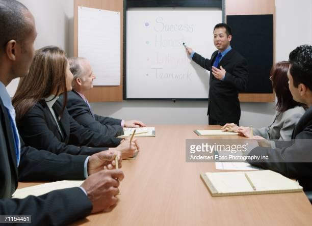 Businessman making a presentation during a meeting