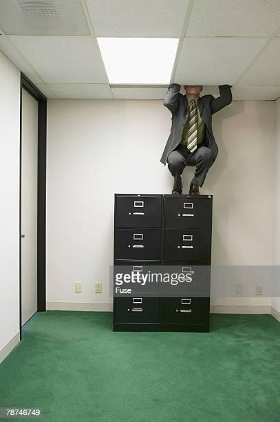 Businessman Making His Escape
