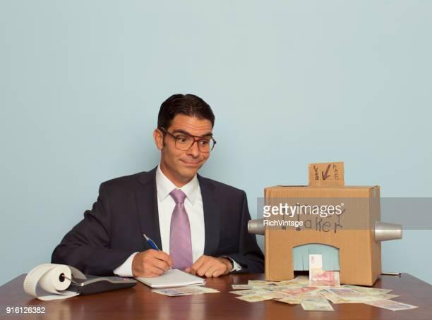 Businessman Making Pound Sterling
