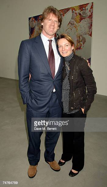 Businessman Mark Getty and sister Ariadne Getty Williams attend the private view of Jeff Koons Hulk Elvis at the Gagosian Gallery June 18 2007 in...