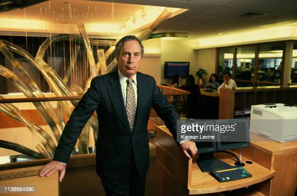 Businessman Michael Bloomberg poses for a portrait on April 22, 1998 in New York City, New York.