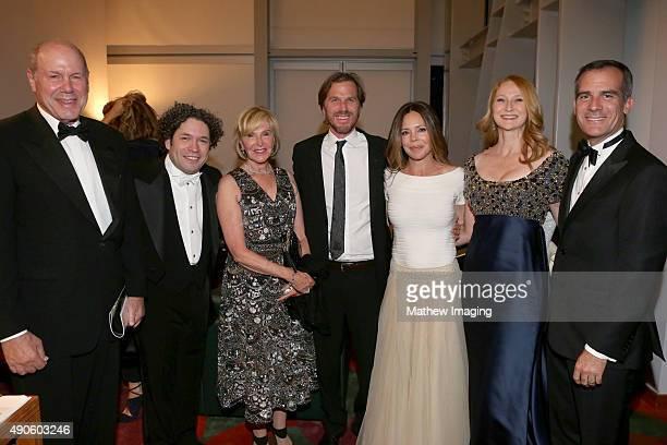 Businessman Michael Eisner, conductor Gustavo Dudamel, Jane Breckenridge, director Breck Eisner, producer Georgia Irwin, Amy Wakeland, and Mayor of...