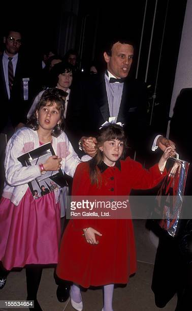Businessman Michael Milken and daughters attend Seventh Annual American Cinema Awards on January 27 1990 at the Beverly Hilton Hotel in Beverly Hills...