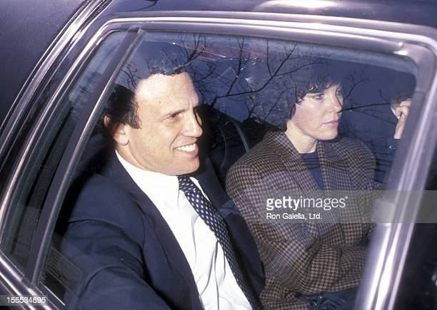 Businessman Michael Milken and wife Lori Milken sighted on April 24 1990 at the Manhattan Federal District Court House in New York City