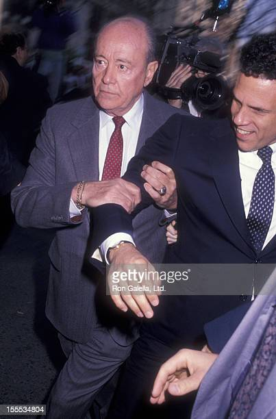 Businessman Michael Milken sighted on April 24 1990 at the Manhattan Federal District Court House in New York City