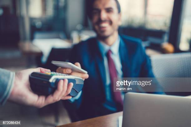 Businessman mobile payment