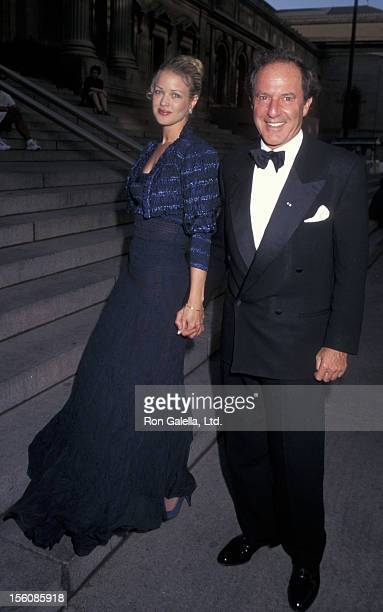 Businessman Mort Zuckerman and Melody Anderson attending 100th Anniversary Party for 'The New York Times' on June 26 1996 at the Metropolitan Museum...