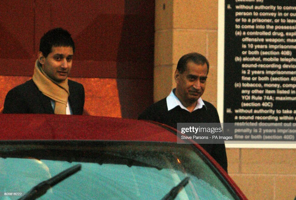 Businessman jailed for intruder attack appeal pictures getty images businessman munir hussain is greeted by his son awais left as he leaves bullingdon m4hsunfo