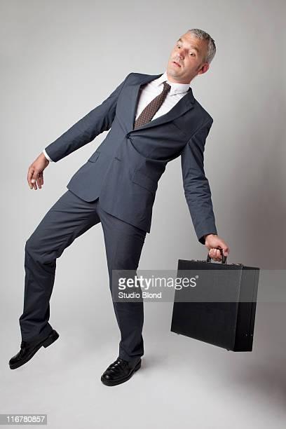 A businessman off balance