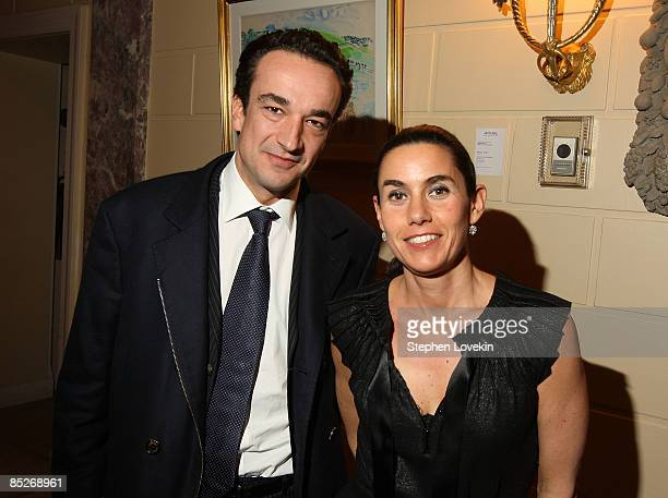 Businessman Olivier Sarkozy and his wife Charlotte Sarkozy attend a preview of the Gerard Oury Collection presented by Artcurial at the Payne Whitney...