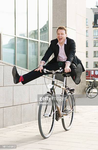 Businessman on a bike