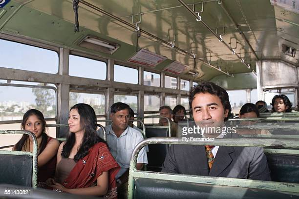 Businessman on a Bus