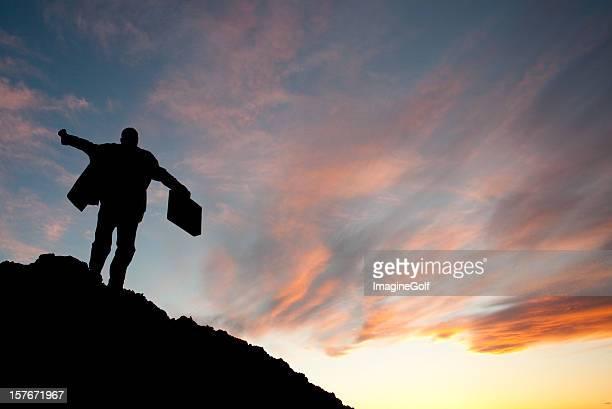 Geschäftsmann auf einem Berg
