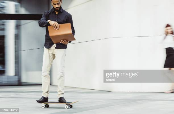 Businessman on a Skateboard, Blurred motion