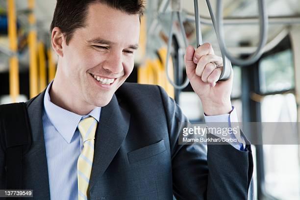 Businessman on bus