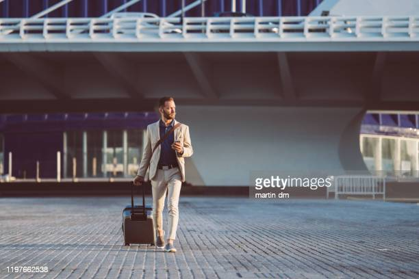 businessman on business trip in spain - business travel stock pictures, royalty-free photos & images