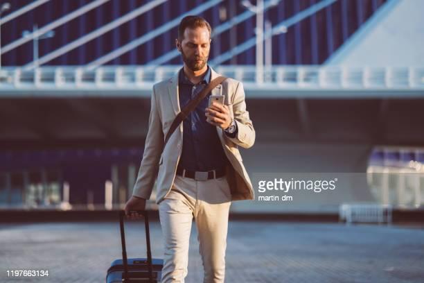 businessman on business trip in spain - business casual imagens e fotografias de stock