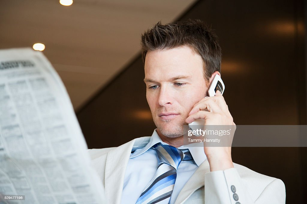 Businessman on cell phone : Foto stock