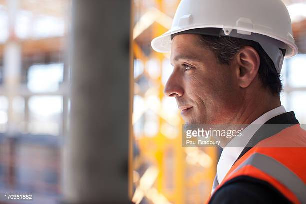 Businessman on construction site