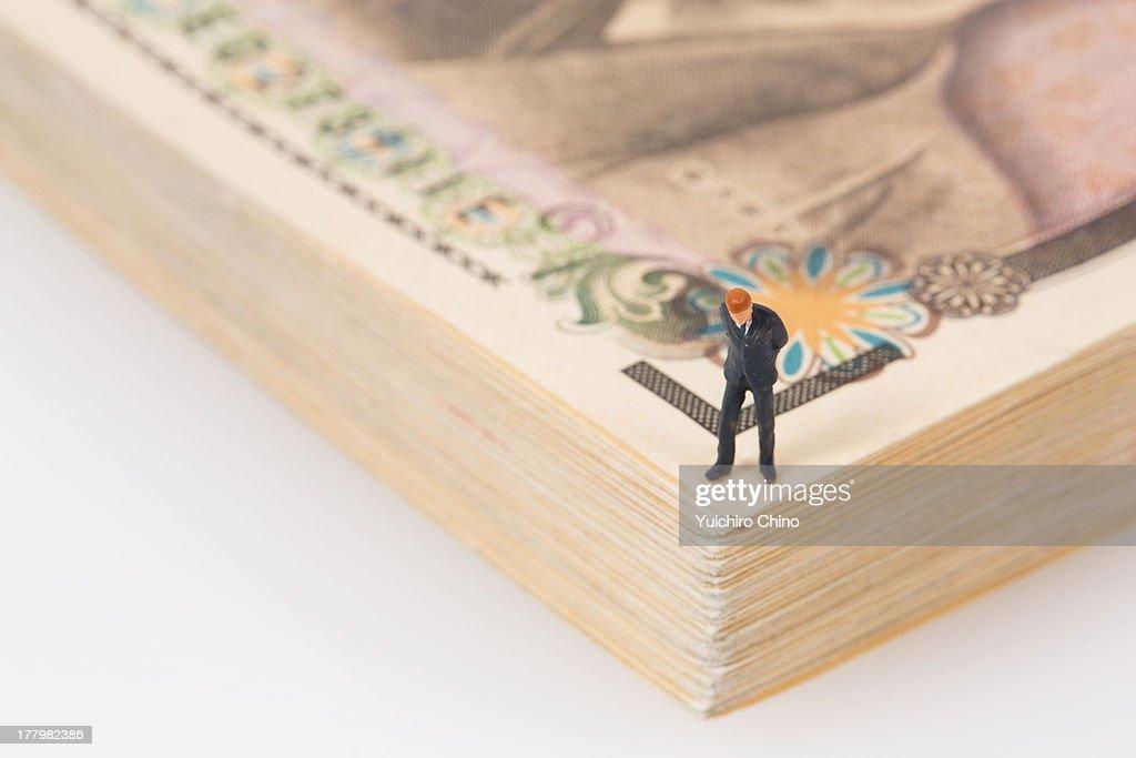 Businessman on Money : Stock Photo