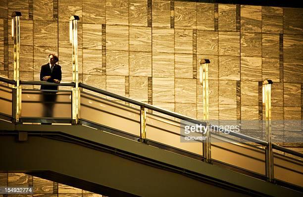 Businessman on stairway
