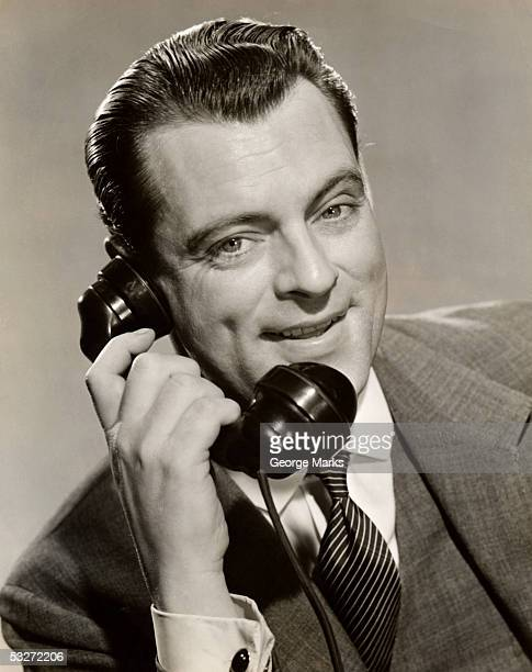 Businessman on telephone
