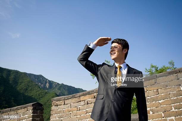 Businessman on the Great Wall