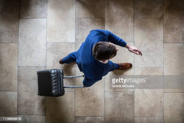 businessman on the move - tourist stock pictures, royalty-free photos & images