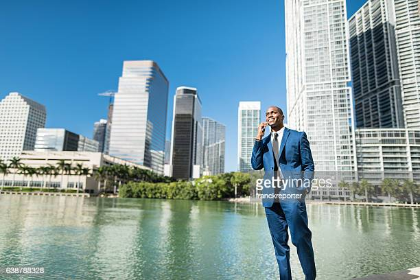 businessman on the phone in brickell Miami