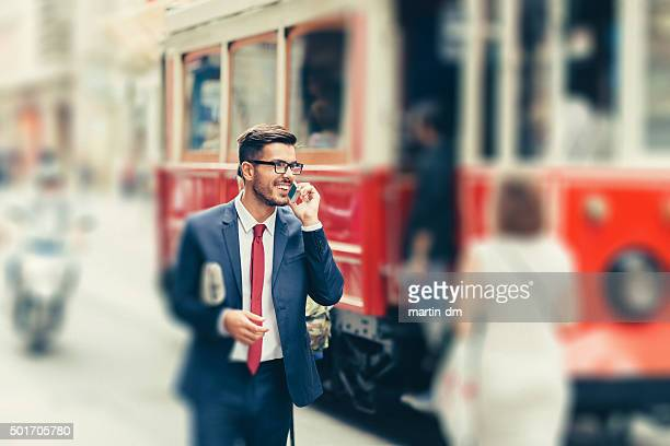 Businessman on the phone in Istanbul